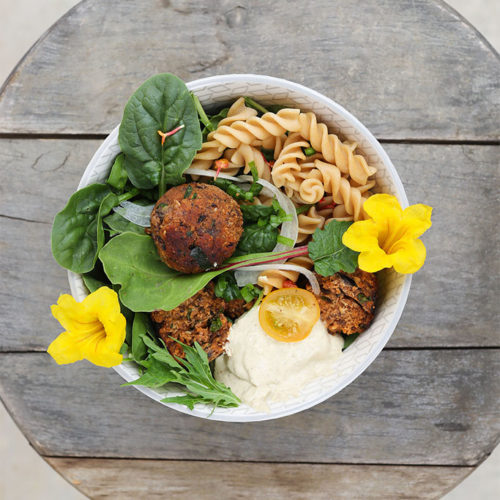 'Meat'-ball-icious with Cashew Caper Dressing